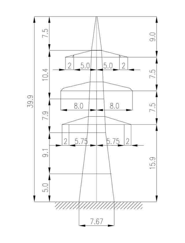 1У330-2+5 анкерная опора