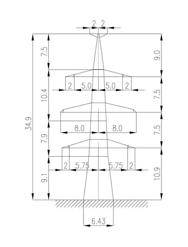 1У330-2Т анкерная опора