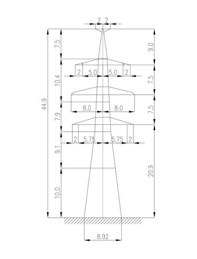 1У330-2Т+10 анкерная опора