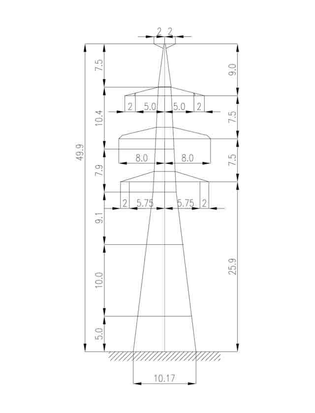 1У330-2Т+15 анкерная опора