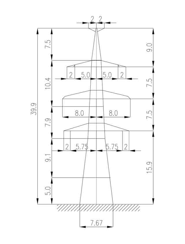 1У330-2Т+5 анкерная опора