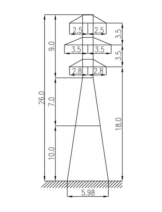 1У35-2+10 анкерная опора