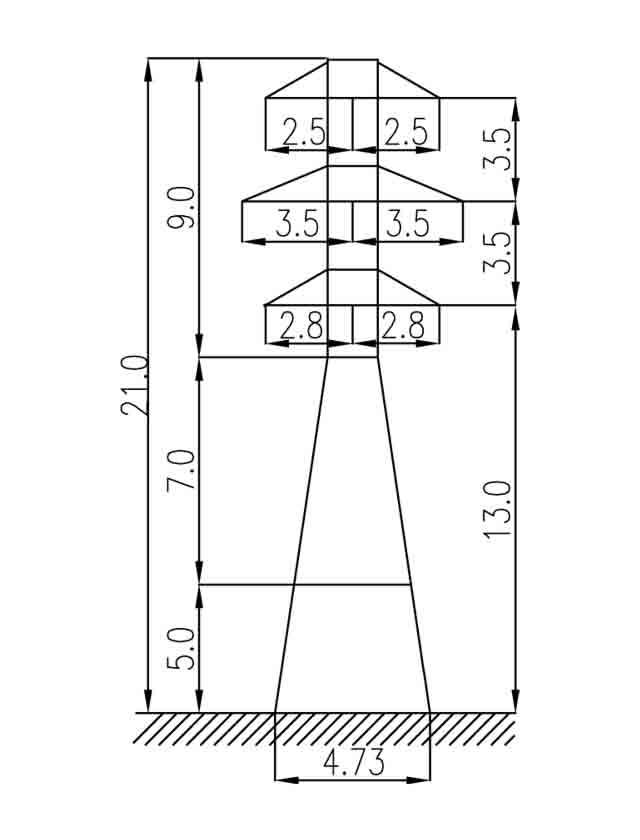 1У35-2+5 анкерная опора