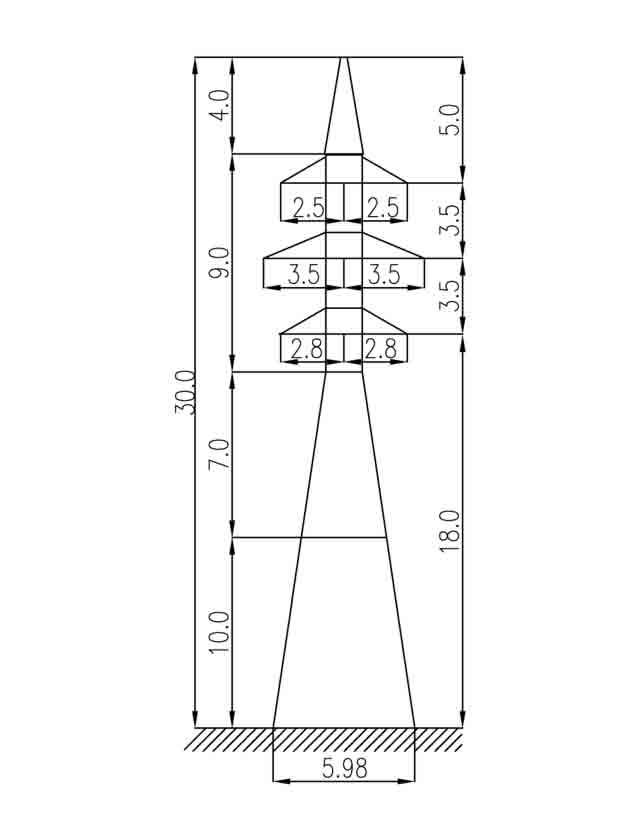 1У35-2Т+10 анкерная опора