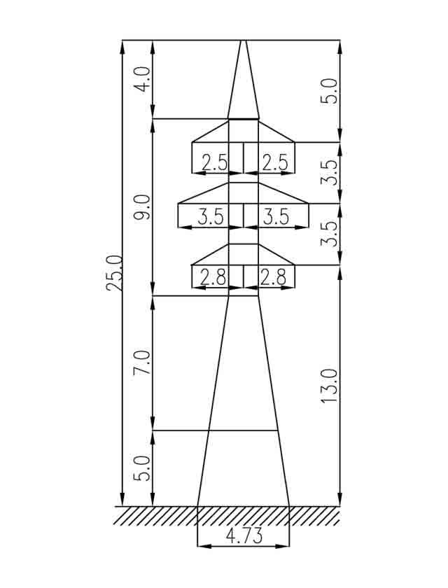1У35-2Т+5 анкерная опора