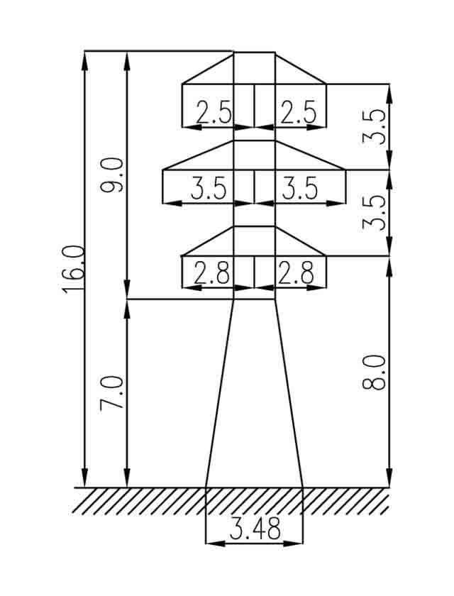 1У35-2Т анкерная опора