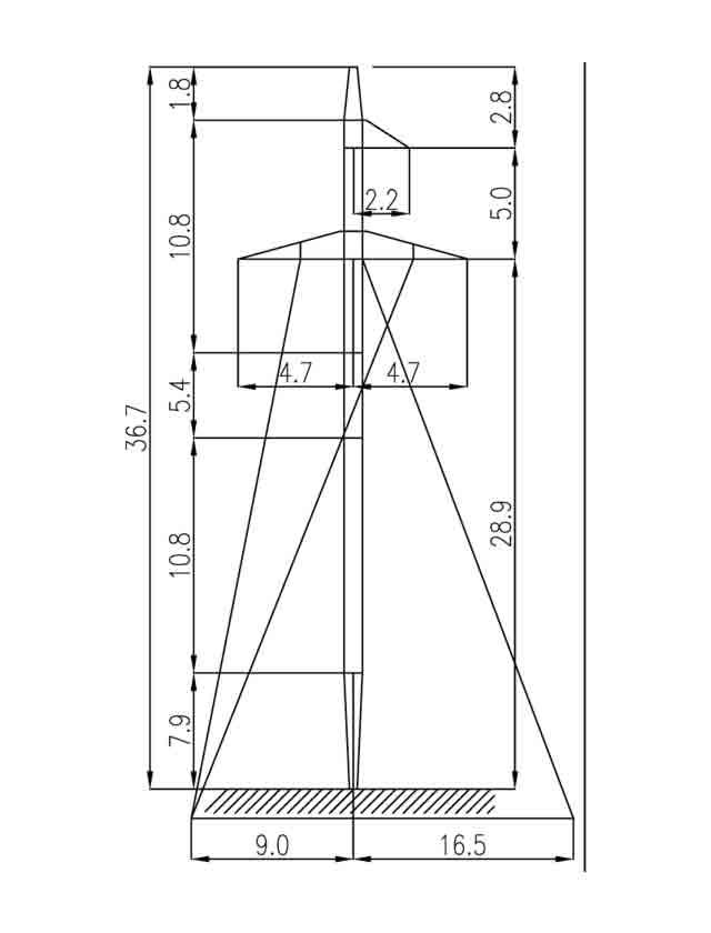 2П110-11+5.4 промежуточные опоры