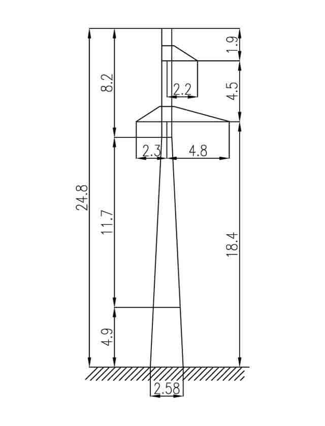 2П110-3-3.6 промежуточные опоры