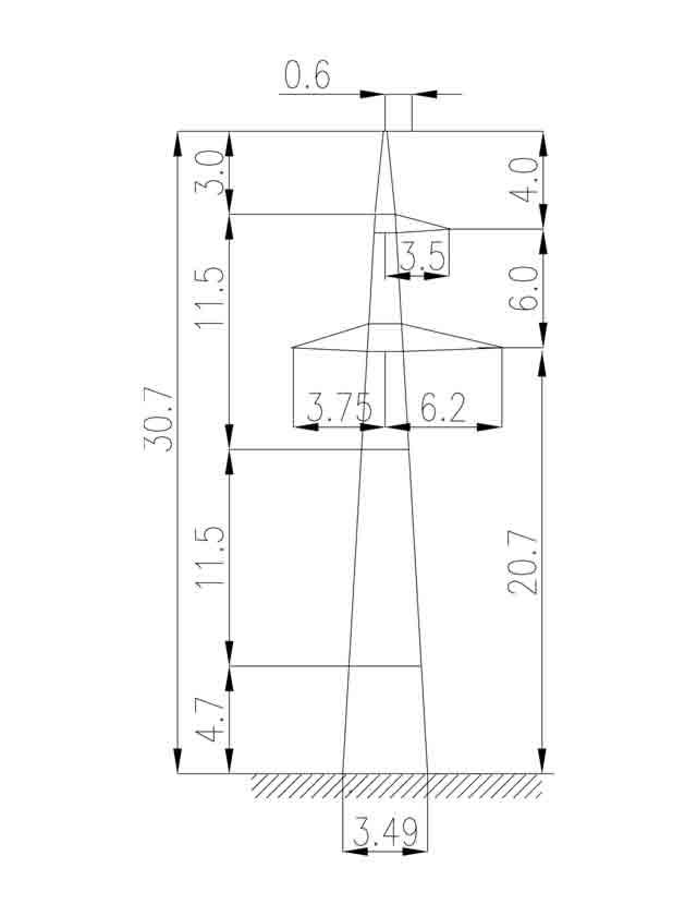 2П220-1-6.8 промежуточная опора
