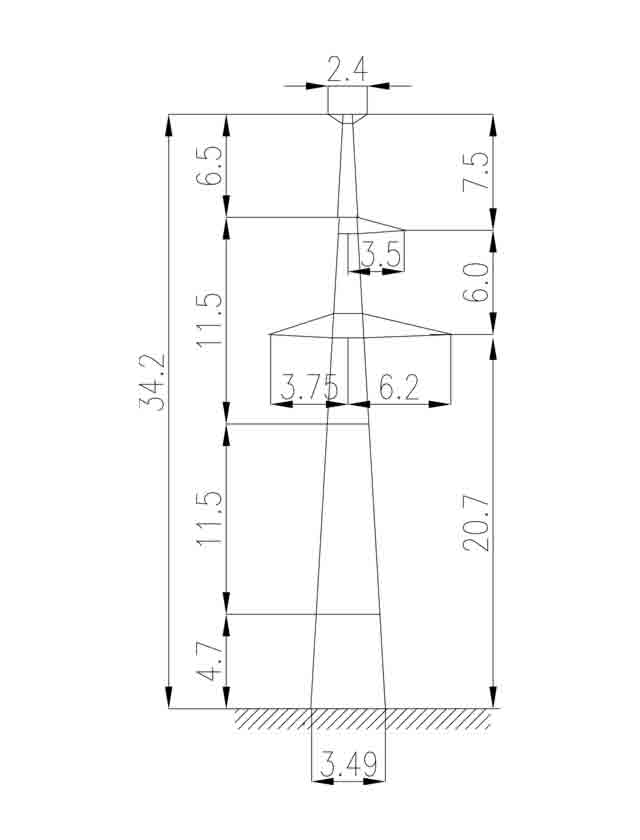2П220-1Т-11.5 промежуточная опора