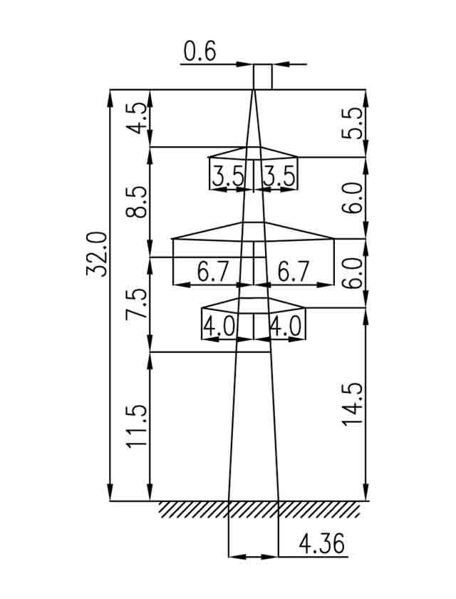 2П220-2-11.5 промежуточная опора