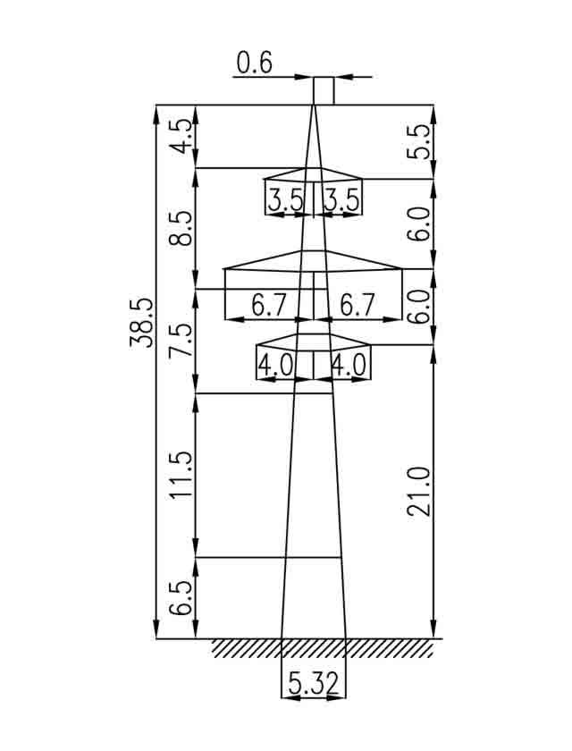 2П220-2-5.0 промежуточная опора