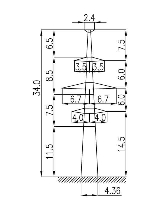 2П220-2Т-11.5 промежуточная опора