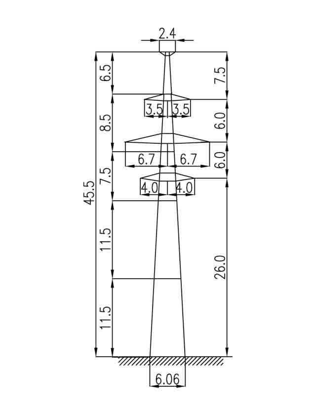 2П220-2Т промежуточная опора