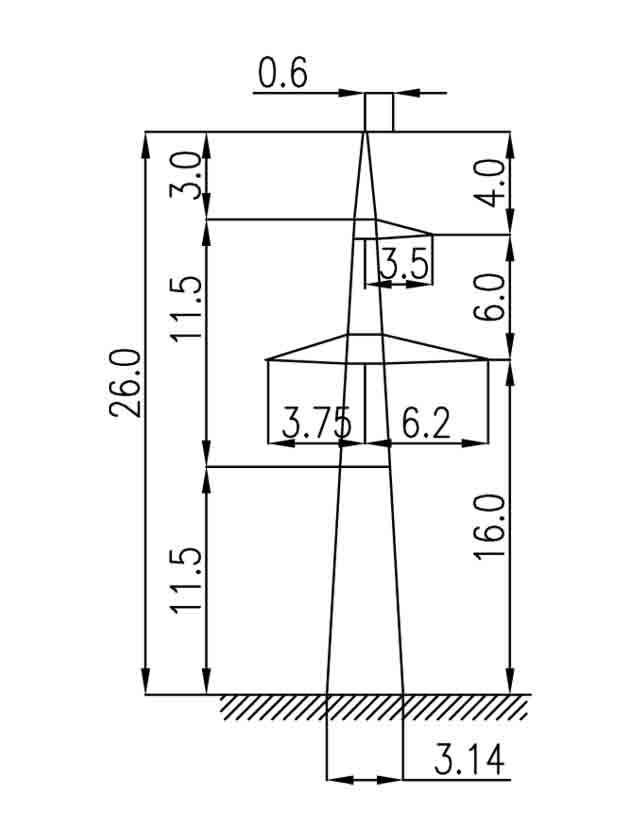 2П220-3-11.5 промежуточная опора