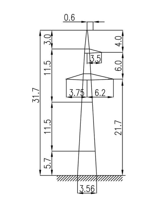 2П220-3-5.8 промежуточная опора