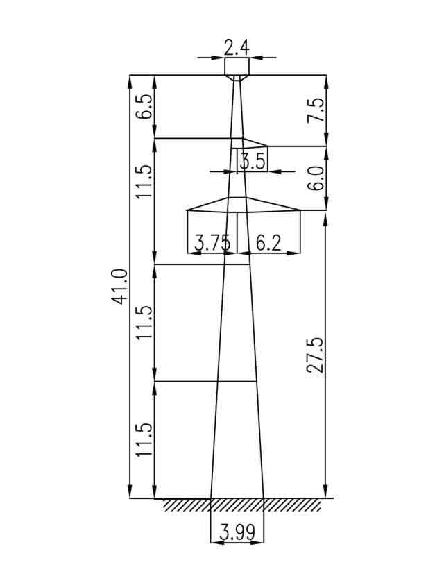 2П220-3Т промежуточная опора