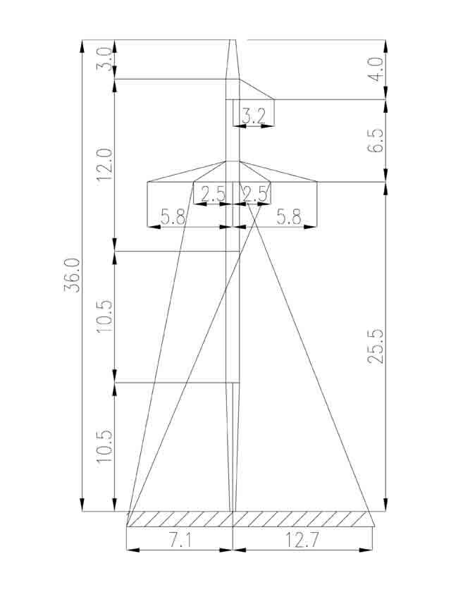 2П220-7 промежуточная опора