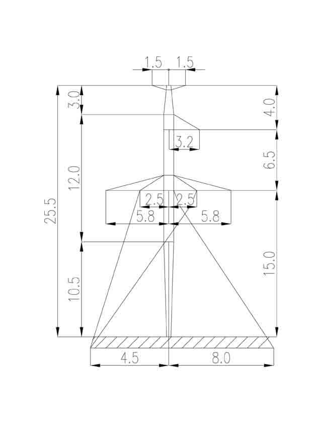 2П220-7Т-10.5 промежуточная опора