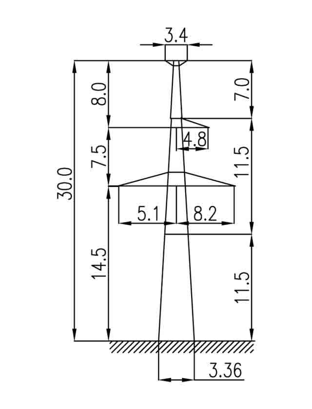 2П330-1Т-11.5 промежуточная опора