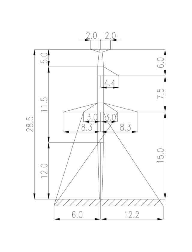 2П330-5Т-12.0 промежуточная опора