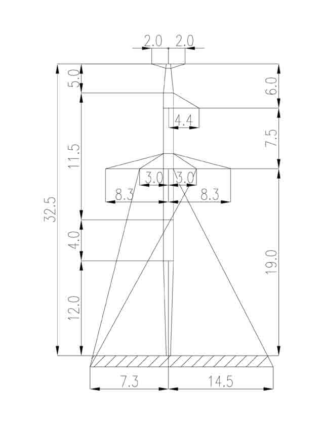 2П330-5Т-8.0 промежуточная опора