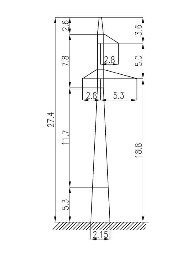 3П110-1-3.2 промежуточная опора