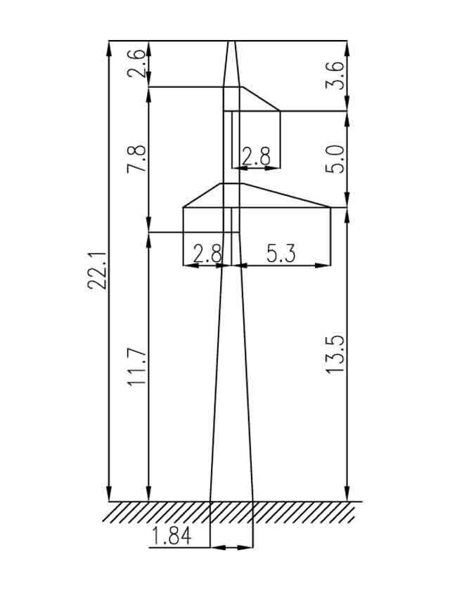 3П110-1-8.5 промежуточная опора