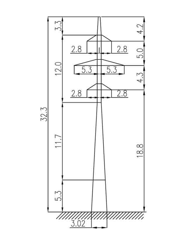 3П110-2-3.2 промежуточная опора