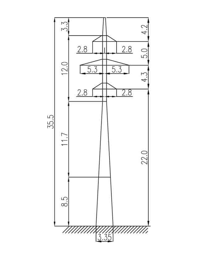 3П110-2 промежуточная опора