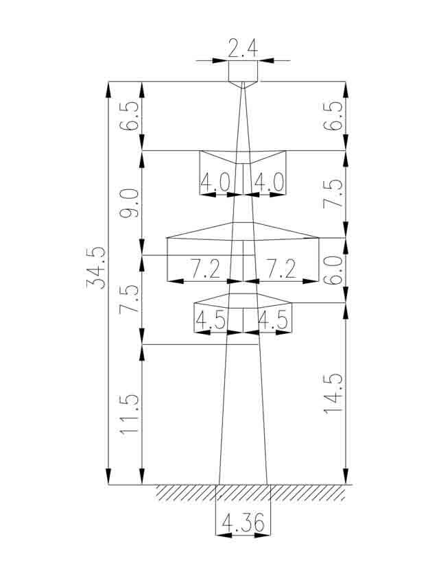 3П220-2Т-11.5 промежуточная опора