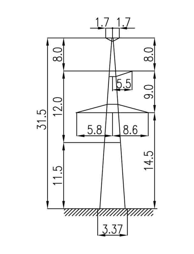 3П330-1Т-11.5 промежуточная опора