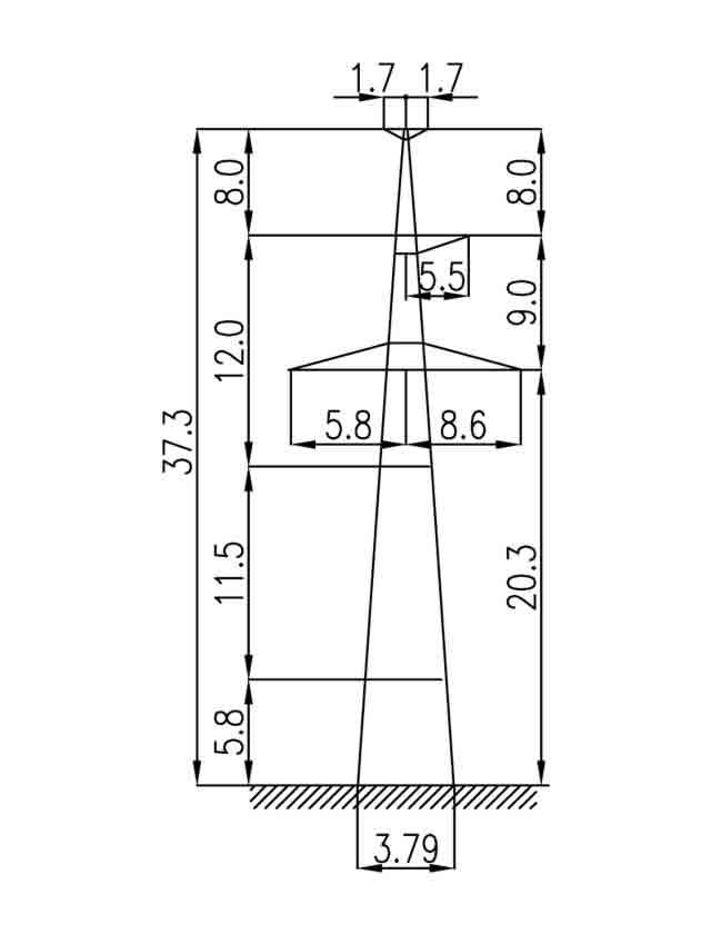3П330-1Т-5.7 промежуточная опора