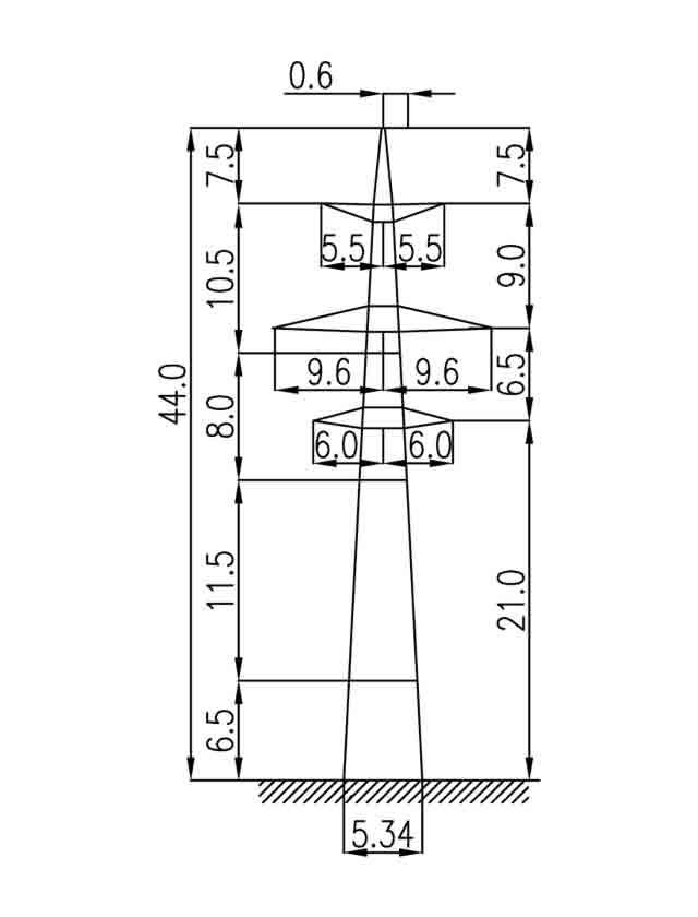 3П330-2-5.0 промежуточная опора