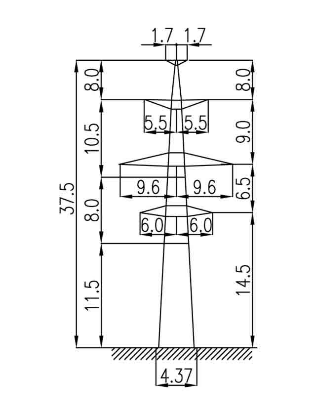 3П330-2Т-11.5 промежуточная опора