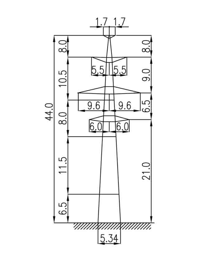 3П330-2Т-5 промежуточная опора