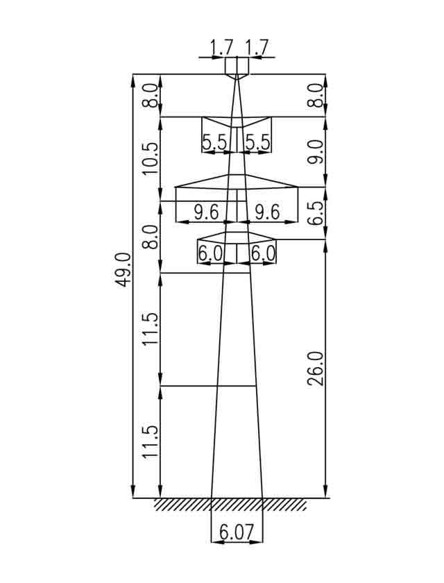3П330-2Т промежуточная опора
