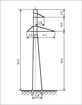 П110-1В промежуточная опора