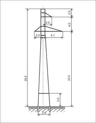 П110-1В+4 промежуточная опора
