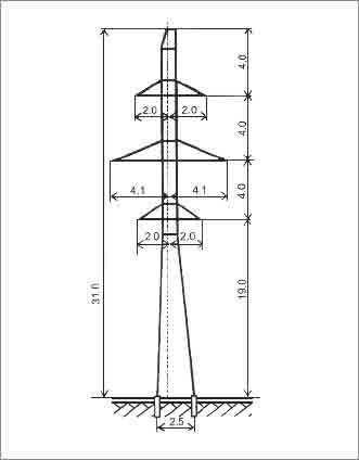П110-2В промежуточная опора