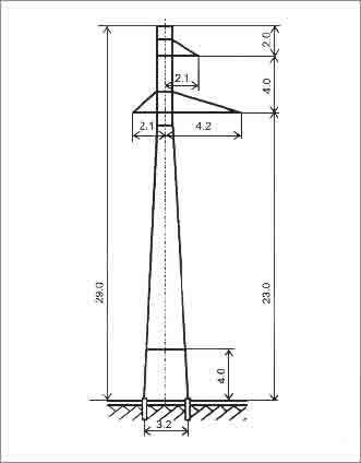 П110-3У промежуточная опора