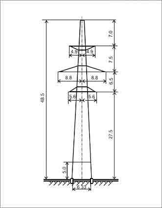 П330-2+5 промежуточная опора