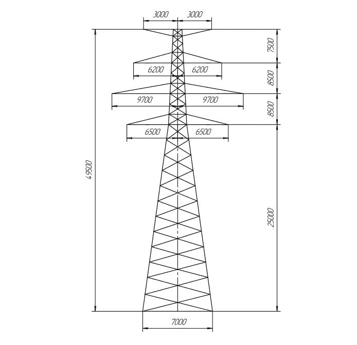 П400-2Т промежуточная опора