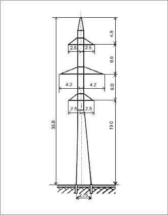 ПС110-10ПГ промежуточная опора