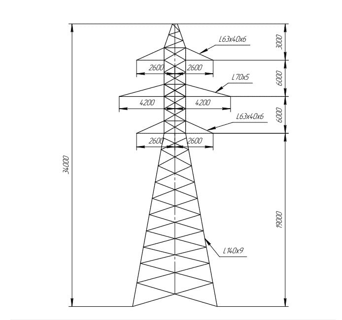 ПС110-10В промежуточная опора