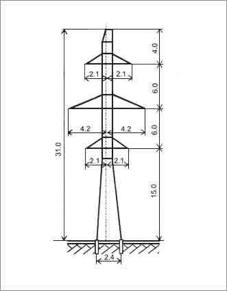 ПС110-6В промежуточная опора