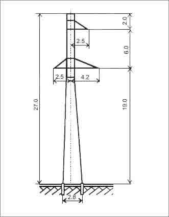 ПС110-9 промежуточная опора