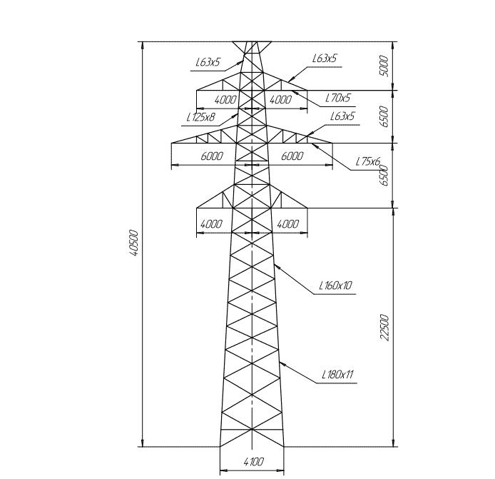 ПС220-6Т промежуточная опора