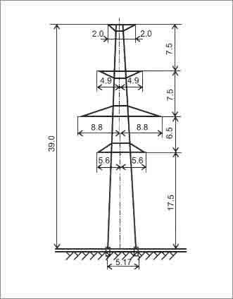 ПС330-2Т промежуточная опора