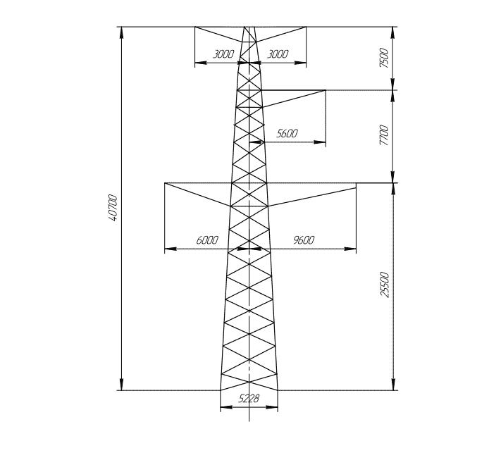 ПС330-5ПТ промежуточная опора